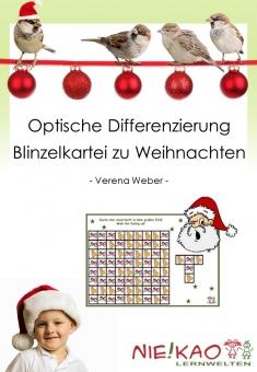 Optische Differenzierung - Blinzelkartei zu Weihnachten