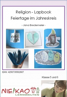 """Religion – Lapbook (Faltbuch) """"Feiertage im Jahreskreis"""""""