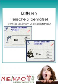 Erstlesen - Tierische Silbenrätsel