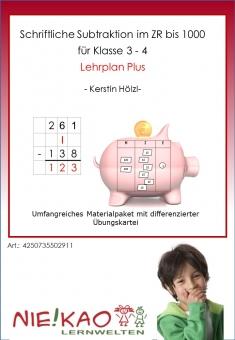 Schriftliche Subtraktion im ZR bis 1000 LPplus