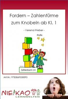Fordern - Zahlentürme zum Knobeln Kl. 1