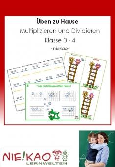 Üben zu Hause - Multiplizieren und Dividieren