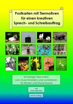 Postkarten mit Tiermotiven für einen kreativen Sprech- und Schreibauftrag
