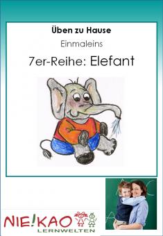 Üben zu Hause - Einmaleins - Elefant (7)
