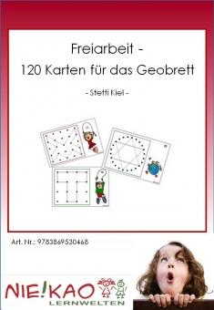 Freiarbeit - 120 Karten für das Geobrett