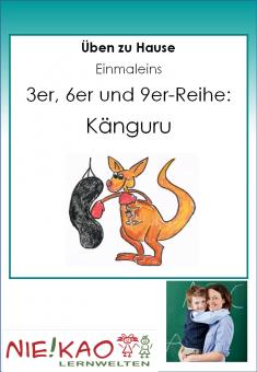 Üben zu Hause - Einmaleins - Känguru (3,6,9)