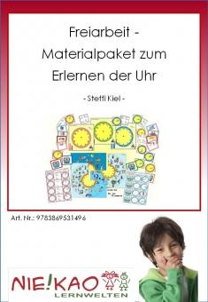 Freiarbeit - Materialpaket zum Erlernen der Uhr