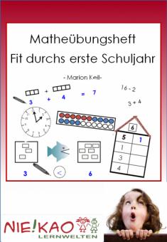 Matheübungsheft - Fit durchs erste Schuljahr