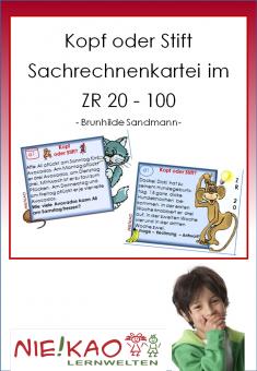Kopf oder Stift - Sachrechnenkartei im Zahlenraum 20 - 100