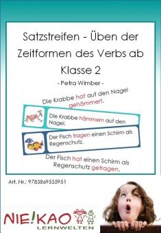Satzstreifen - Üben der Zeitformen des Verbs ab Klasse 2