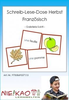 Schreib-Lese-Dose Französisch Herbst