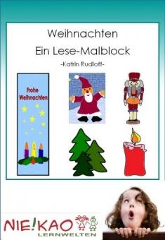 Weihnachten - Ein Lese-Malblock