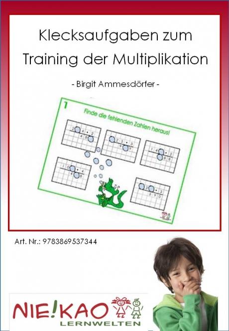 Klecksaufgaben zum Training der Multiplikation
