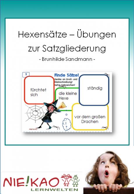 Unterrichtsmaterial, u00dcbungsblu00e4tter fu00fcr die Grundschule : Hexensu00e4tze - u00dcbungen zur Satzgliederung ...