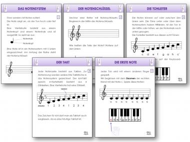 unterrichtsmaterial bungsbl tter f r die grundschule notenlehrgang f r das keyboard in musik. Black Bedroom Furniture Sets. Home Design Ideas