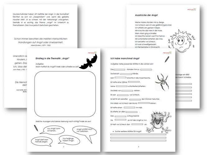 Arbeitsblatt Gefühle Zuordnen : Unterrichtsmaterial Übungsblätter für die grundschule