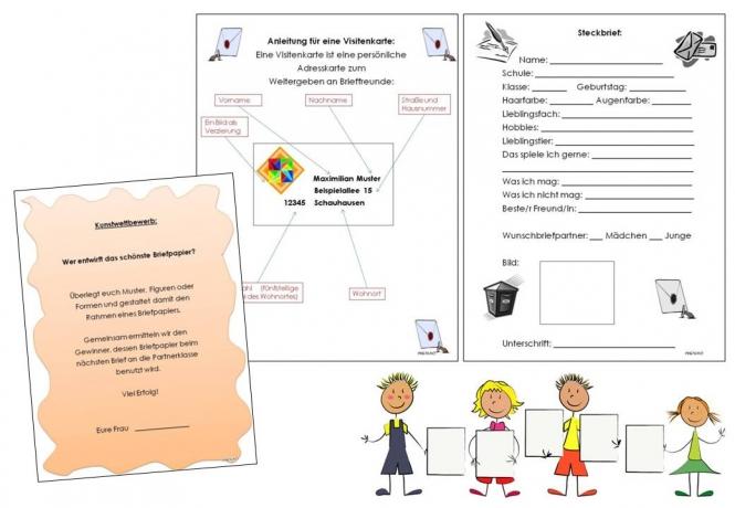 Briefe Schreiben 3 Klasse übungen : Unterrichtsmaterial Übungsblätter für die grundschule