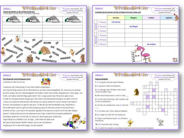 Pronomen Arbeitsblätter Klasse: Wortarten pronomen regeln ...