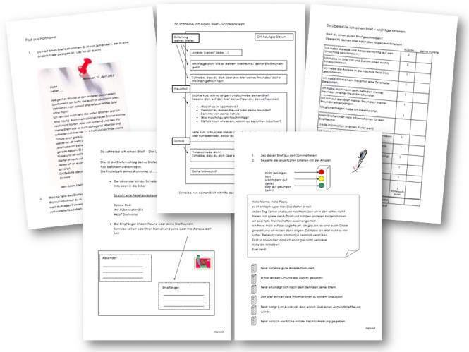 Offizielle Briefe Klasse 5 : Unterrichtsmaterial Übungsblätter für die grundschule