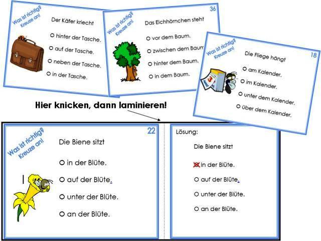 Unterrichtsmaterial, u00dcbungsblu00e4tter fu00fcr die Grundschule : Fu00f6rdern bei LRS - Lagebeziehungen ...