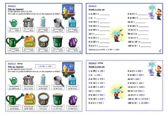 Liter und milliliter