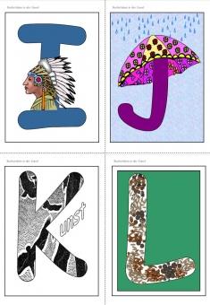 unterrichtsmaterial bungsbl tter f r die grundschule kunsterziehung buchstaben in der. Black Bedroom Furniture Sets. Home Design Ideas