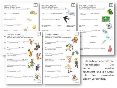 Unterrichtsmaterial Bungsbl Tter F R Die Grundschule Grammatik Mit Spa Verben Im
