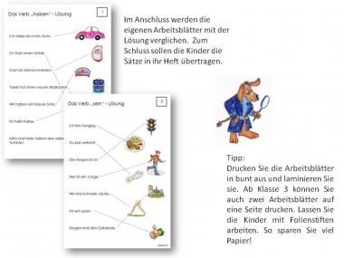 Unterrichtsmaterial, Übungsblätter für die Grundschule | Grammatik ...
