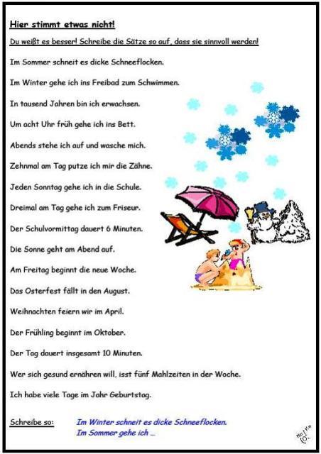Deutsch Zeitangaben Arbeitsblatt : Arbeitsblatt vorschule deutsch grammatik übungsblätter