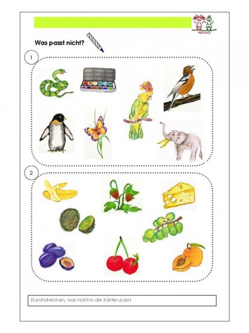 Unterrichtsmaterial, u00dcbungsblu00e4tter fu00fcr die Grundschule : Wahrnehmungsu00fcbungen im Unterricht ...