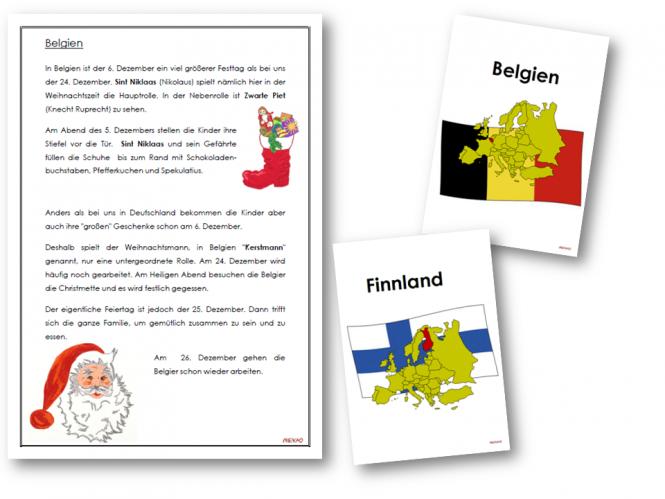 unterrichtsmaterial bungsbl tter f r die grundschule weihnachten in europa adventskalender. Black Bedroom Furniture Sets. Home Design Ideas