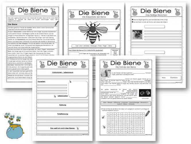 Arbeitsblatt Biene Klasse 1 : Unterrichtsmaterial Übungsblätter für die grundschule