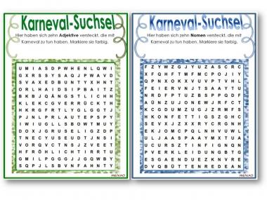 Unterrichtsmaterial Ubungsblatter Fur Die Grundschule Karneval