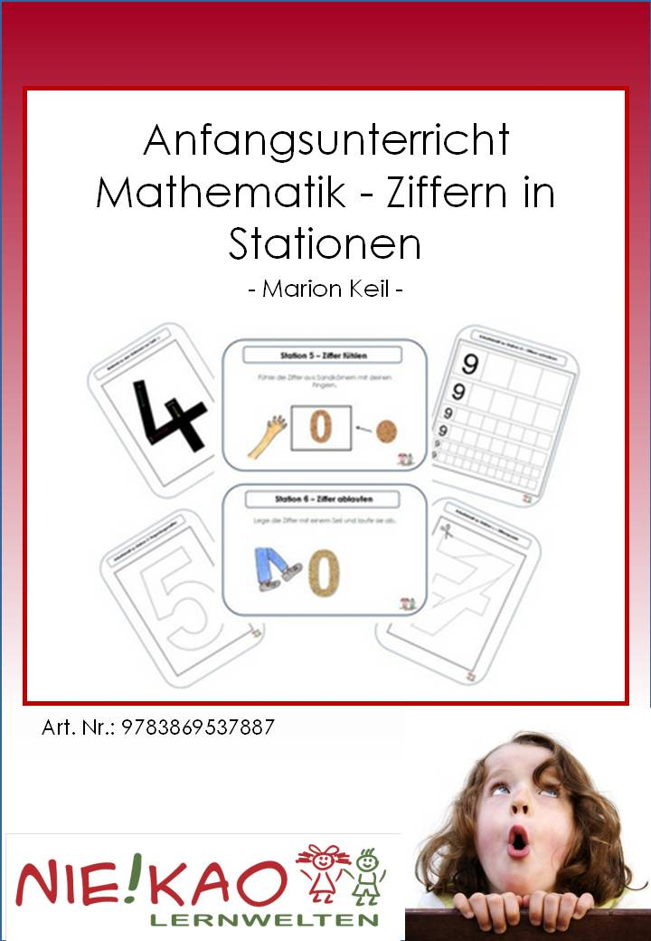 Unterrichtsmaterial, u00dcbungsblu00e4tter fu00fcr die Grundschule : Anfangsunterricht Mathematik - Ziffern ...