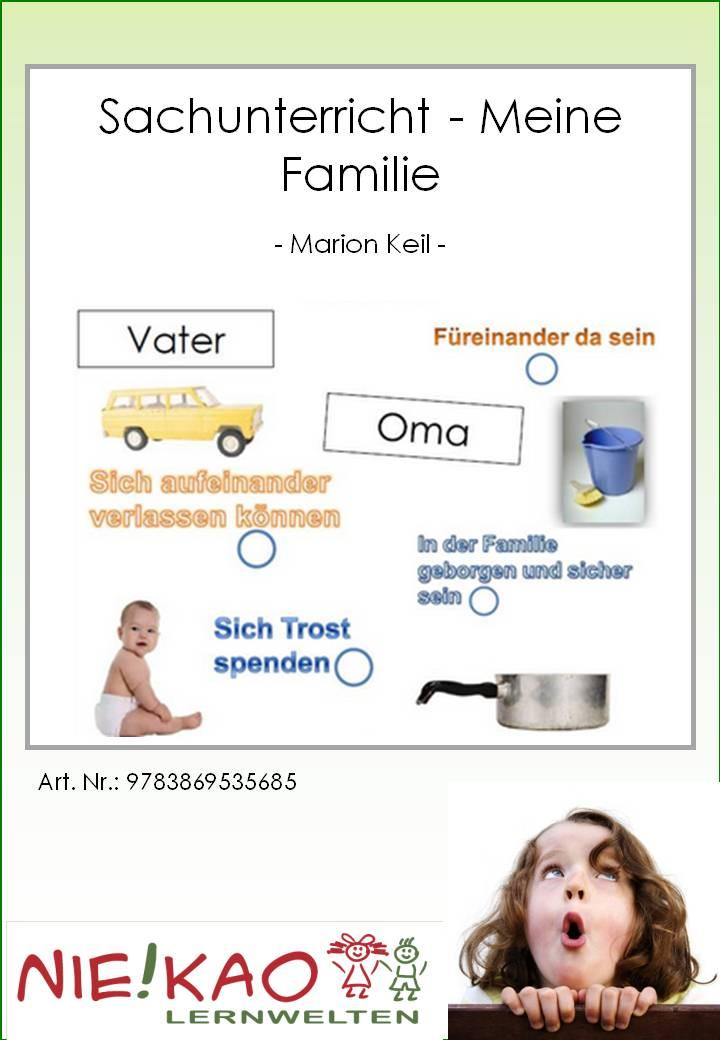 Unterrichtsmaterial, u00dcbungsblu00e4tter fu00fcr die Grundschule : Sachunterricht - Meine Familie : online ...