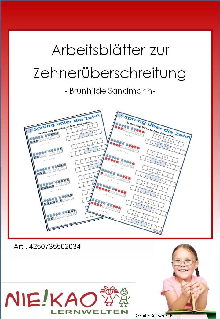 Unterrichtsmaterial, u00dcbungsblu00e4tter fu00fcr die Grundschule : Arbeitsblu00e4tter zur Zehneru00fcberschreitung ...