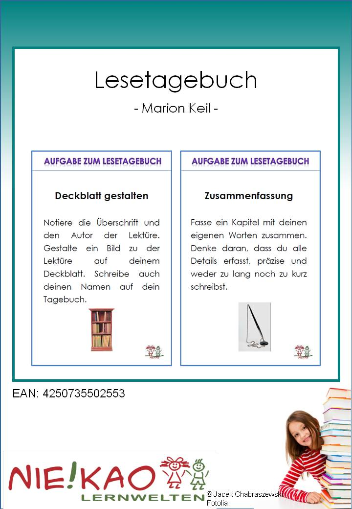 unterrichtsmaterial bungsbl tter f r die grundschule lesetagebuch in lesen online. Black Bedroom Furniture Sets. Home Design Ideas