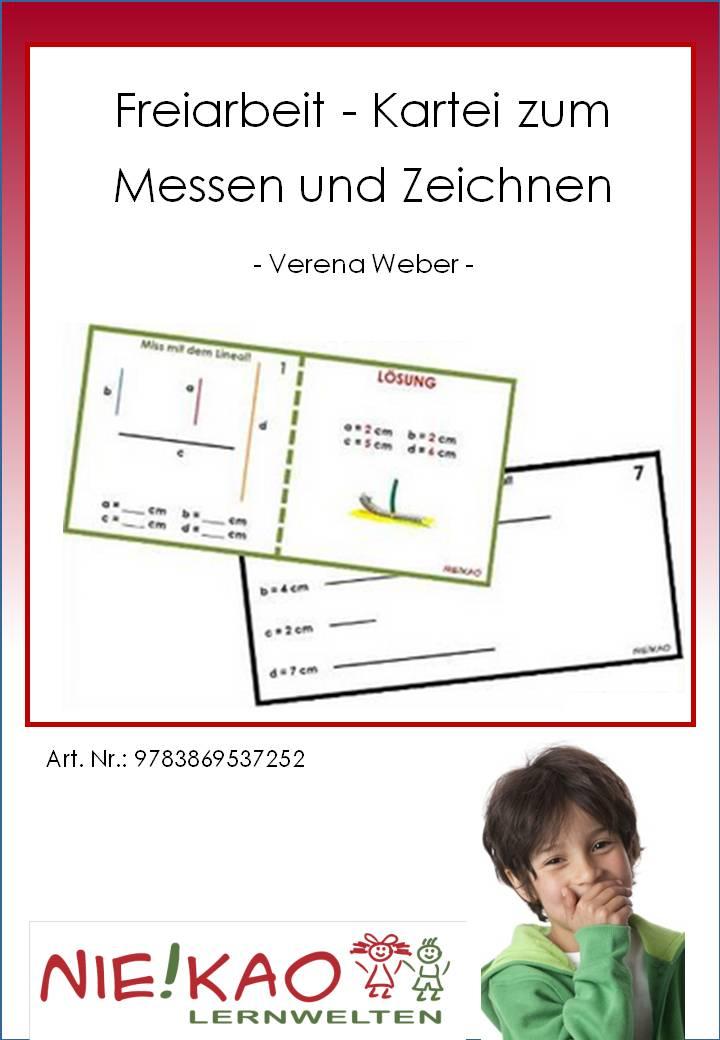 Unterrichtsmaterial, u00dcbungsblu00e4tter fu00fcr die Grundschule : Freiarbeit - Kartei zum Messen und ...
