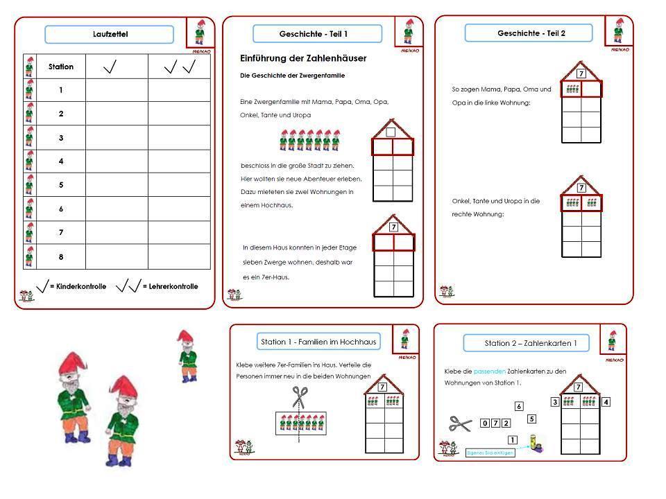 Unterrichtsmaterial, u00dcbungsblu00e4tter fu00fcr die Grundschule : Anfangsunterricht Mathematik ...