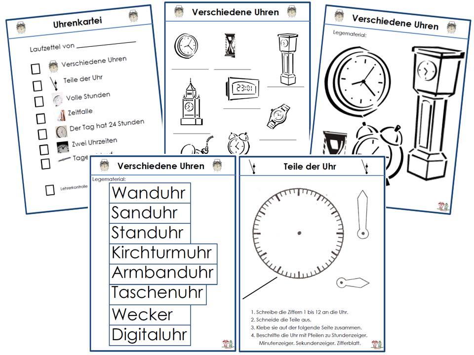 Arbeitsblatt Uhr Grundschule : Arbeitsblatt vorschule uhr üben arbeitsblätter