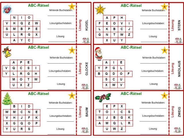 Unterrichtsmaterial, u00dcbungsblu00e4tter fu00fcr die Grundschule : Fordern - Kartei u0026quot;ABC-Ru00e4tsel zur ...