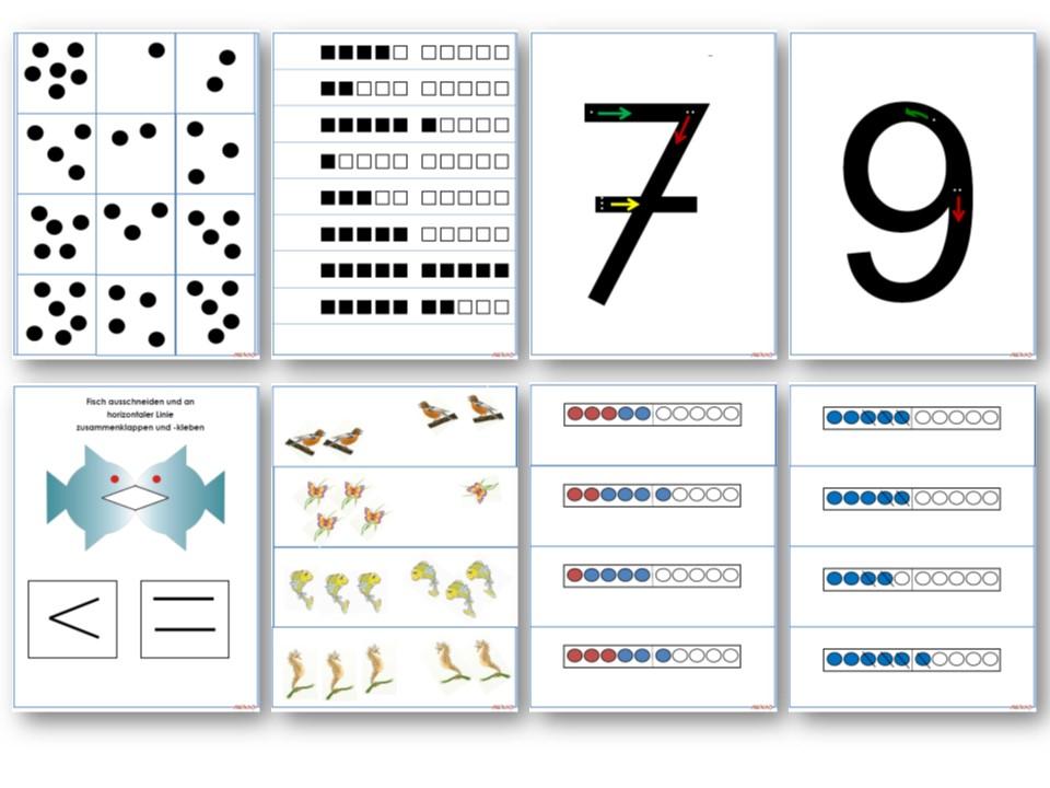 Unterrichtsmaterial, u00dcbungsblu00e4tter fu00fcr die Grundschule : Materialpaket Mathe-Konferenz Klasse 1 ...
