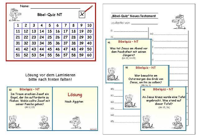 unterrichtsmaterial bungsbl tter f r die grundschule bibel quiz zum nt differenzieren im. Black Bedroom Furniture Sets. Home Design Ideas