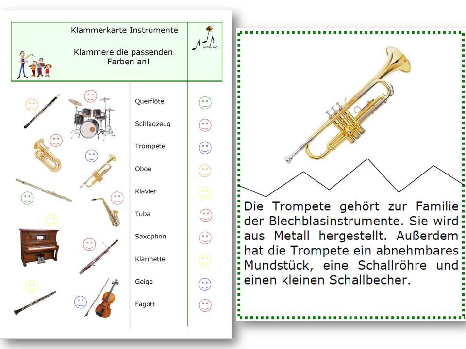 58 Arbeitsblatt Grundschule Instrumente