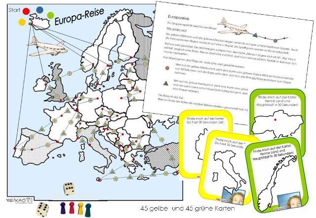 Lander Und Hauptstadte Europa
