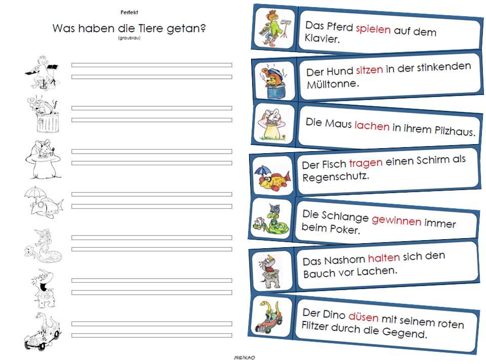 Deutsch klasse 3 zeitformen