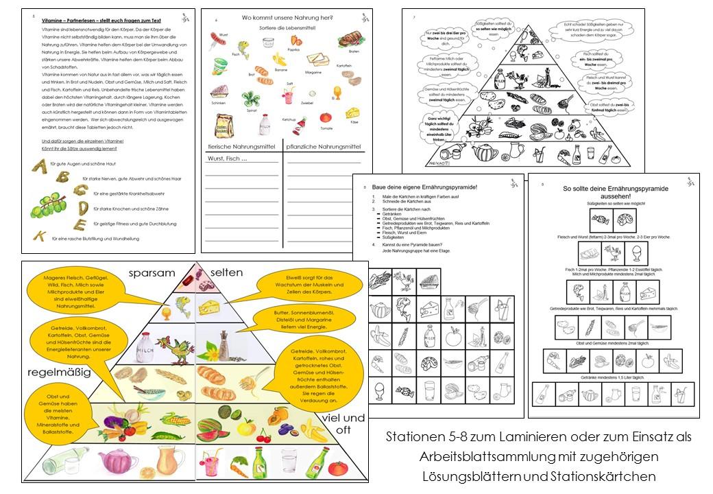 Exelent Arbeitsblatt Auf Ausgewogene Ernährung Model - Kindergarten ...