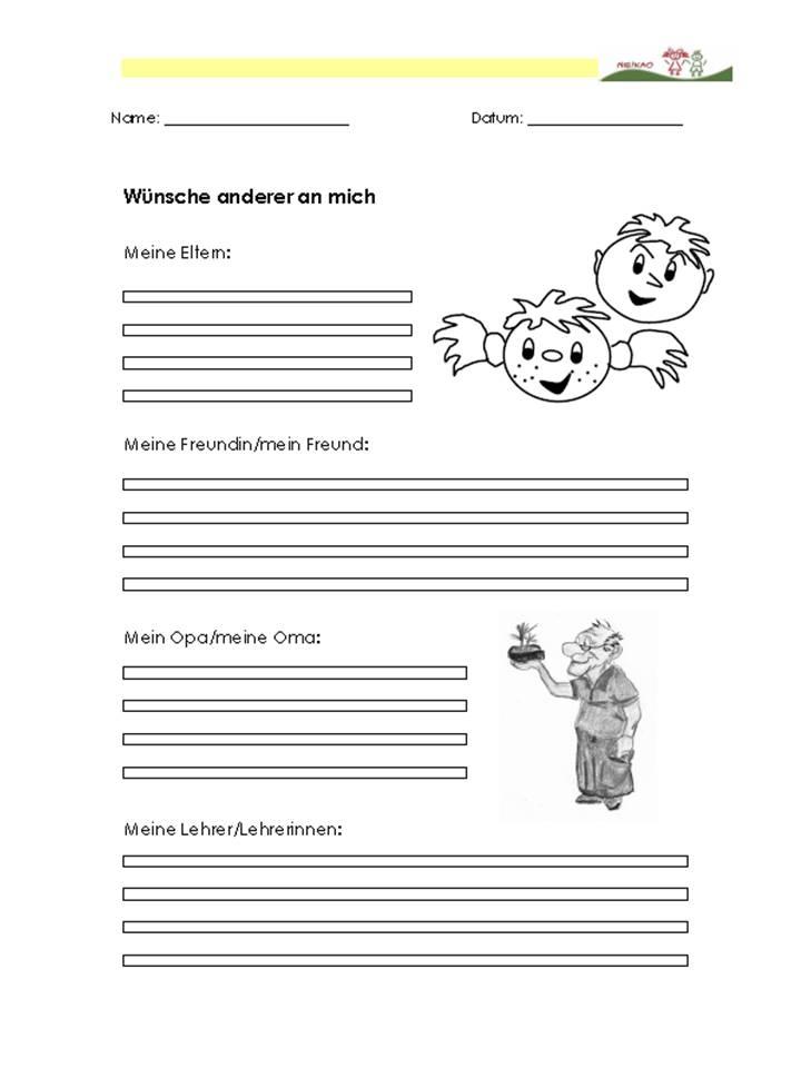 Arbeitsblatt Meine Schultasche : Unterrichtsmaterial Übungsblätter für die grundschule