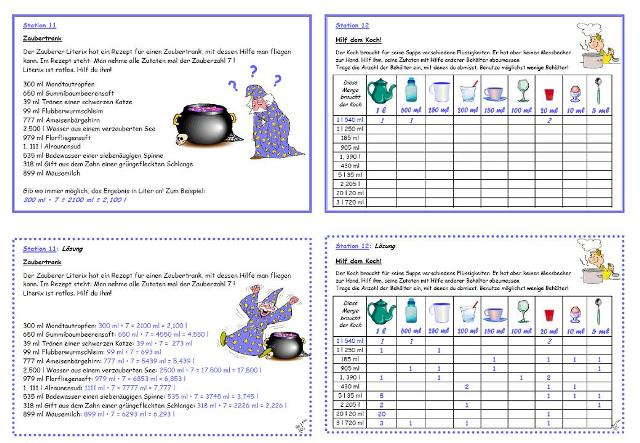 unterrichtsmaterial bungsbl tter f r die grundschule werkstatt hohlma e 1 kompetenzen. Black Bedroom Furniture Sets. Home Design Ideas