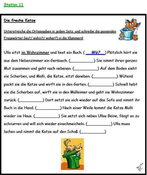 arbeitsblatt vorschule 187 grammatik 252ben deutsch 4 klasse